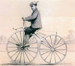 איור של דגם האופניים הראשון מ-1886
