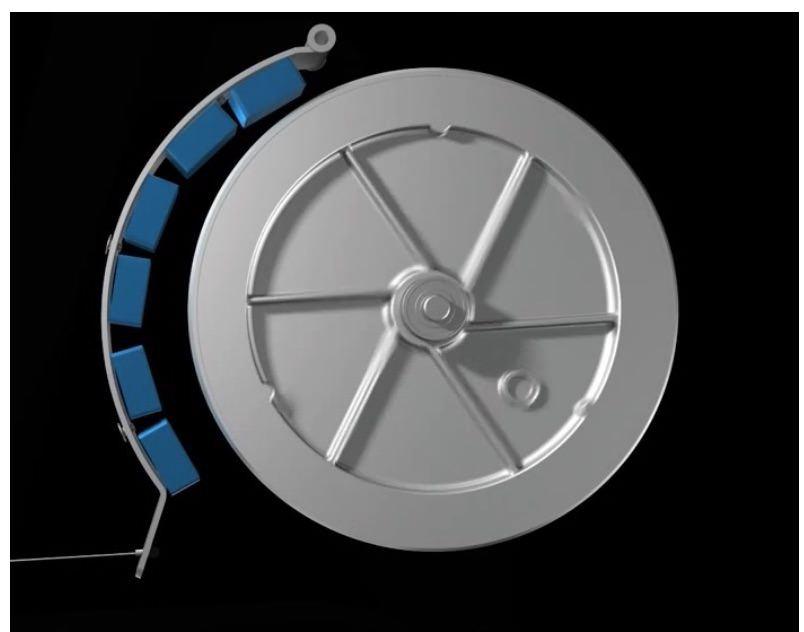 גלגל תנופה של אליפטיקל בהתנגדות מגנטית
