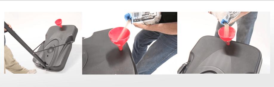 תהליך המילוי של מיכל המילוי