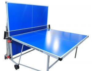 שולחן טניס 4 מ״מ אלומיניום לשימוש חוץ דגם 4004  Pace  Outdoor שולחן פינג פונג , עובי פלטות 4 מ״מ עשויות אלומיניום לשימשו חוץ)פונקצית משחק עצמי - שחקן יחיד (חוץ קיפול צמוד שולחן טניס מקצועי לכל מזג אוויר ומוגן בפני קרניUVלוחות משחק בעובי 4 מ