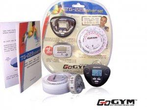 פדומטר בערכת בריאות  ספורט ומעקב TG-223 Silver Set™ GoGYM