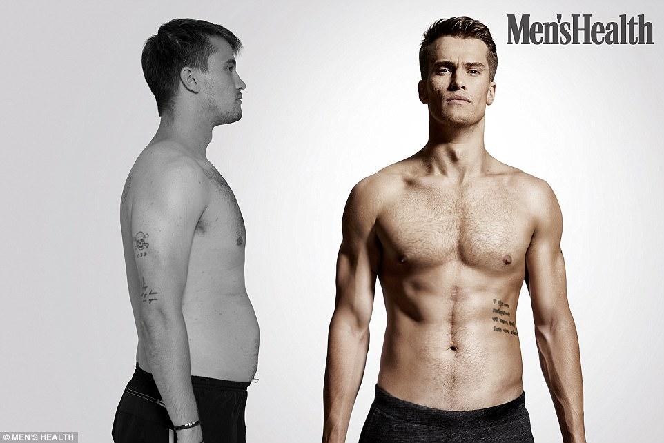 אימון חיטוב כושר של תום מראה לפני ואחרי